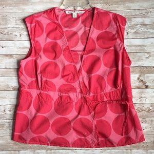 Tommy Hilfiger Tie Waist Sleeveless Top Size 8